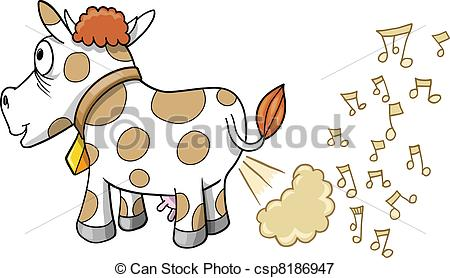 Farting Music Cow Vector Csp8186947