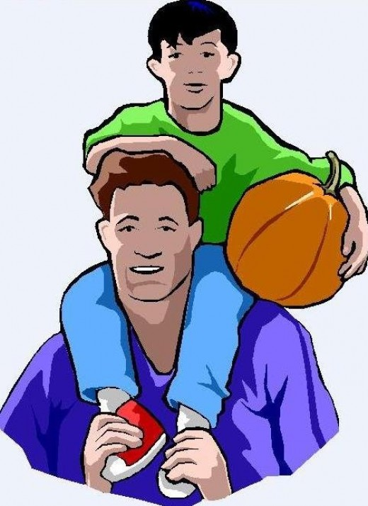 Father Clipart Picture Of Father And Son With