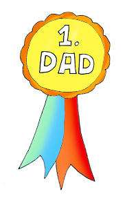fathers clipart medal first price color ...