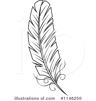 Royalty-Free (RF) Feather Clipart Illustration by Vector Tradition SM -  Stock Sample