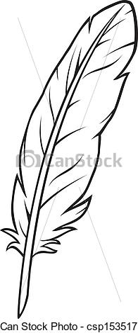 Vector Clip Art Of Feather . - Feather Clipart