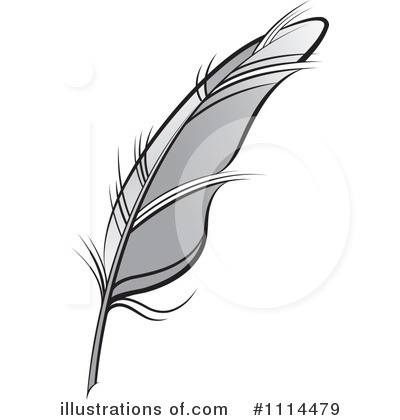 Feather Quill Clipart #1114479 - Illustration by Lal Perera