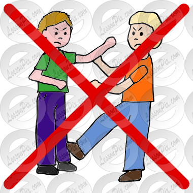 Fight Picture For Classroom Therapy Use Great Do Not Fight Clipart