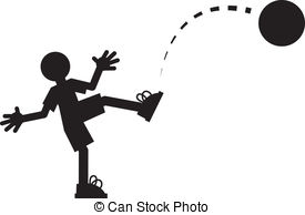 ... Figure Kicking Ball - Silhouette figure kicking a ball