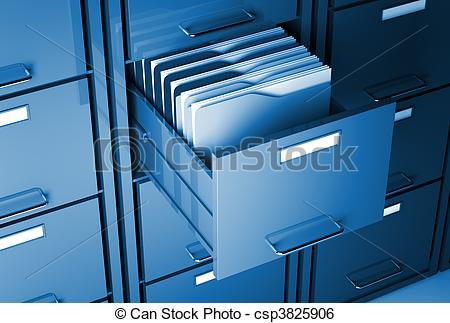 File Cabinet And Folder Stock Illustration