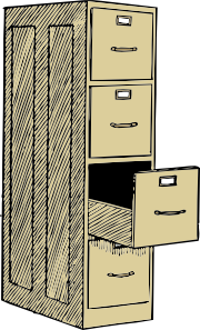 File Cabinet With Drawes Clip Art