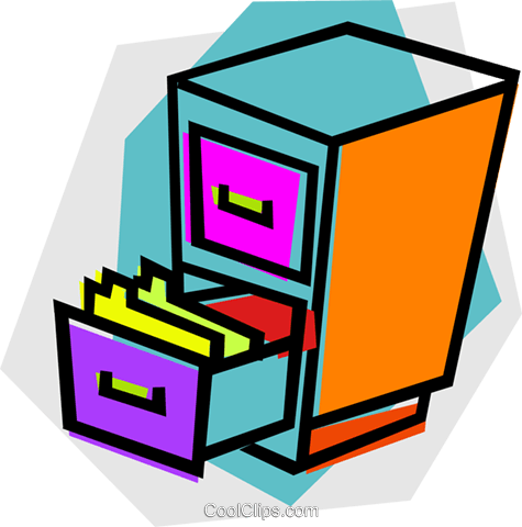 Gorgeous Free Filing Cabinet Royalty Vector