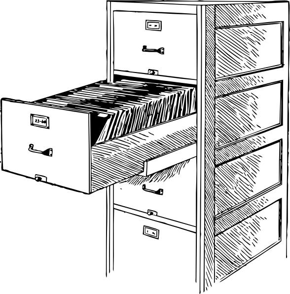 Open File Cabinet clip art