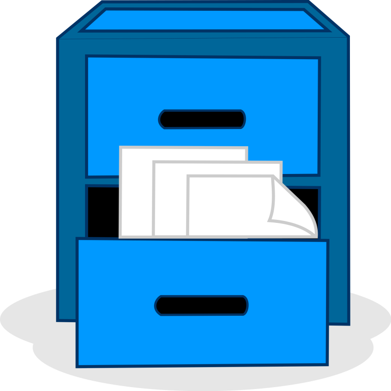 pin filing cabinet clipart #2