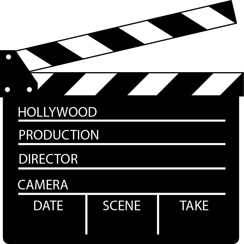 film clipart. Director Clapper Board .