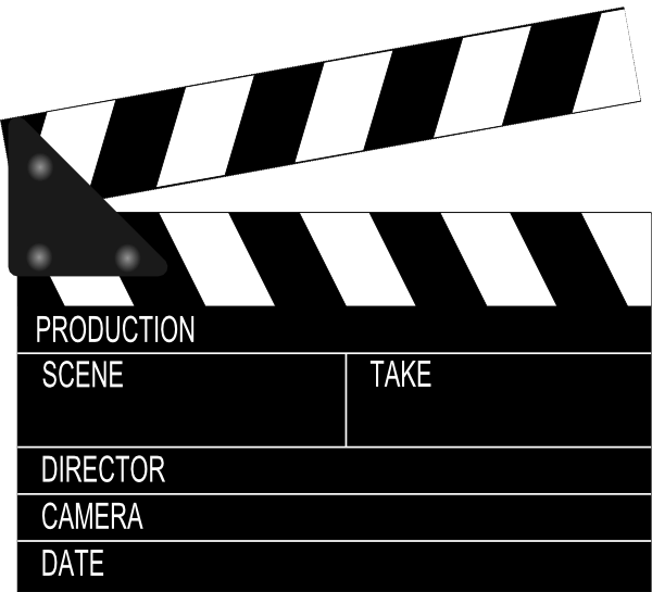 Film Slate Clip Art   Movie Clapper Board clip art - vector clip art online,