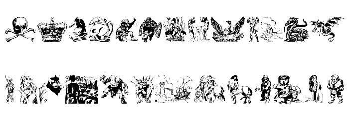 Fantasy clipart font
