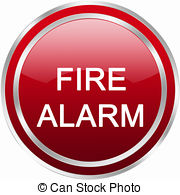 ... fire alarm button - red circle fire alarm button