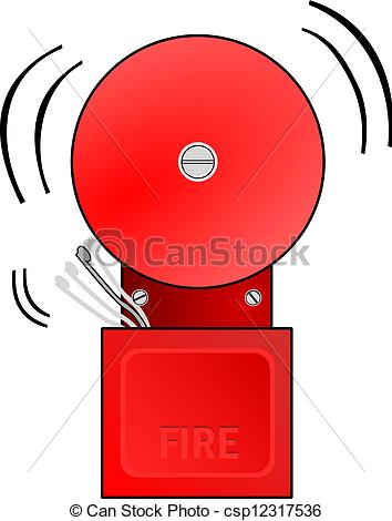 ... Fire Alarm Goes Off - Red fire alarm goes off and rings the.