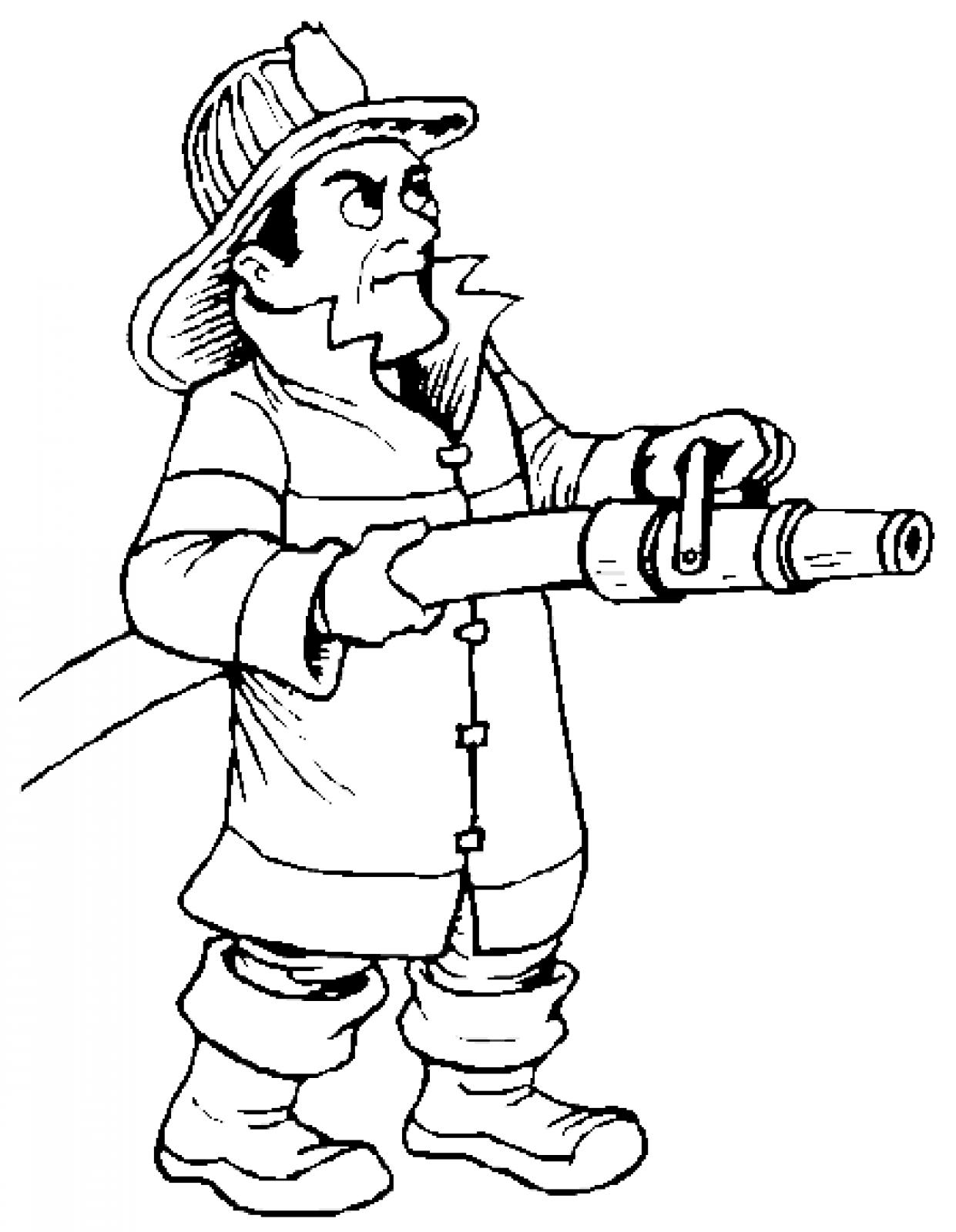 Fire Fighter Clipart Black And White. Firefighter cartoon fire .