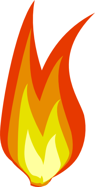 Fire flame clipart 2