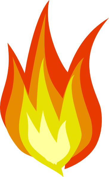 Fire flames clipart free clipart image