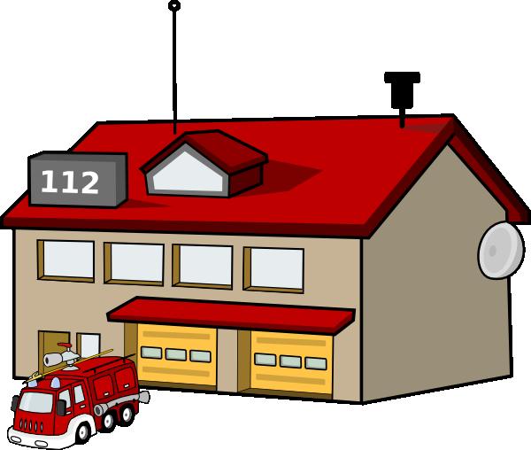 Fire Station Clip Art At Clker Com Vector Clip Art Online Royalty