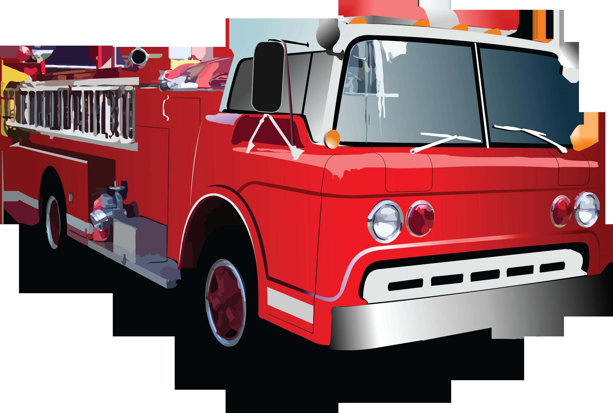Fire truck cartoon clipart