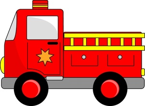 Fire Engine Clipart Image: Cartoon Firetruck