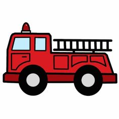 Fire truck fire engine clipart image cartoon firetruck creating printables 2