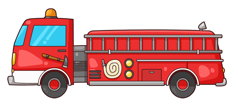 Fire truck free to use clipart