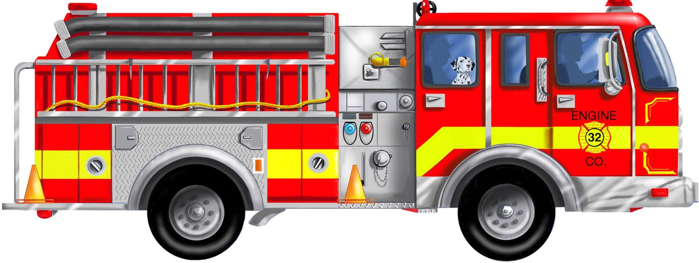 Fire truck truck parts clipart