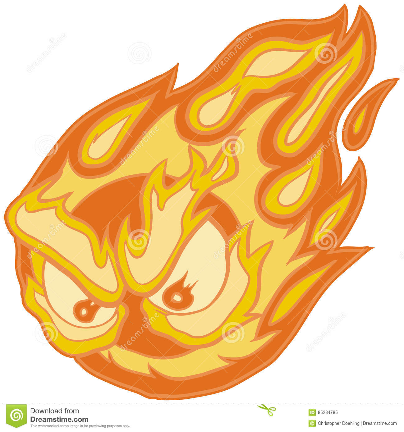 Fireball Clipart Angry Eyes Fireball Vector Clip Art Cartoon Stock Vector -  Illustration Of Fire, Light