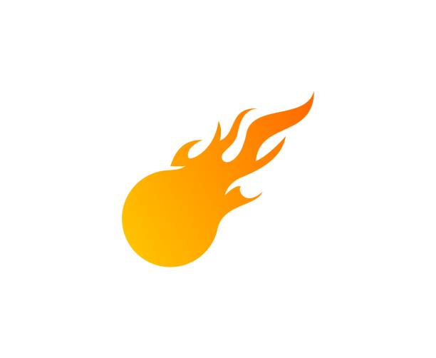 Fireball Icon Vector Art Illustration