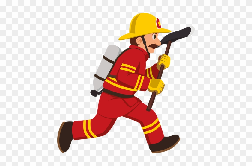 Firefighter Clipart Transparent - Firefighter Cartoon