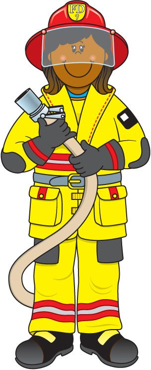 Firefighter fire department clip art image