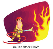 . hdclipartall.com Firefighter - illustration of firefighter extinguishing fire.