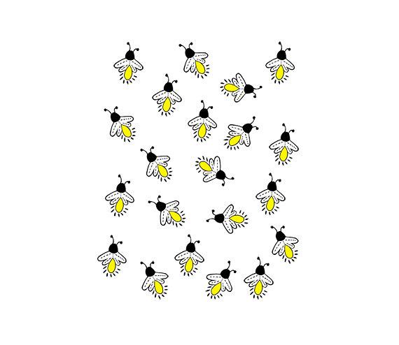 Fireflies Lightning bugs Digital Clipart PNG by 641Digital