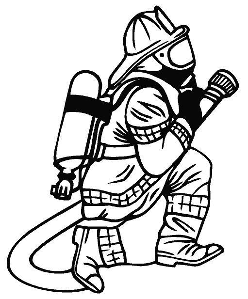 Fireman Black And White . Free Fireman Clipart