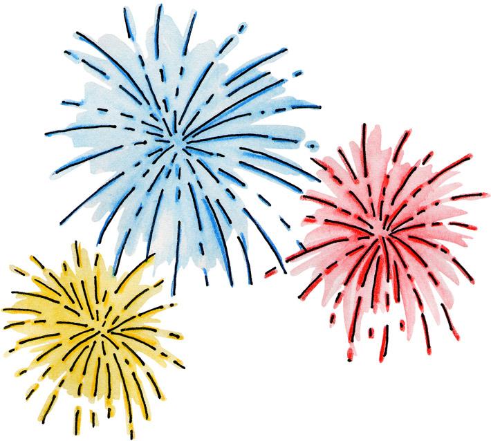 Fireworks clip art fireworks .