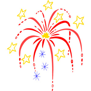 Fireworks Clipart .
