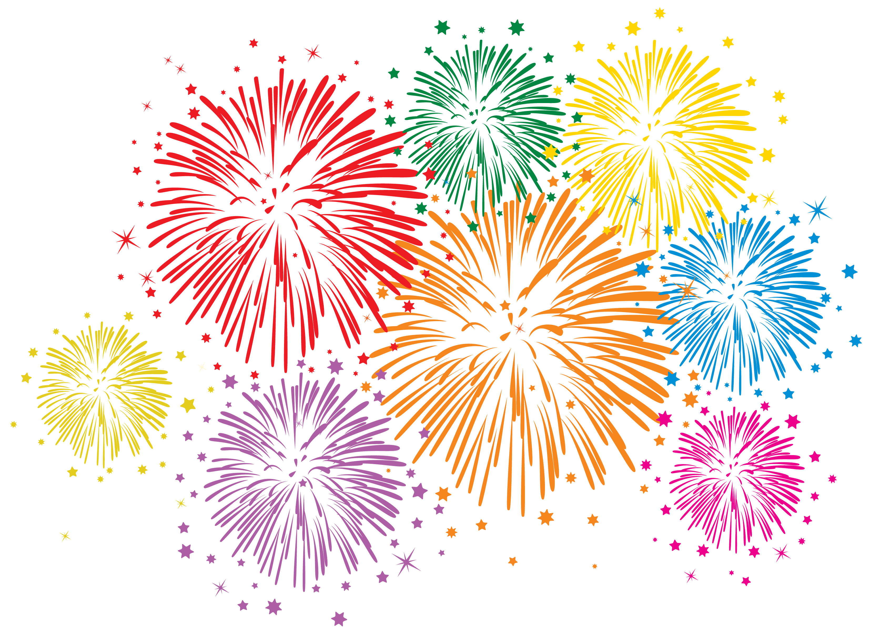 Fireworks firework clipart colorful