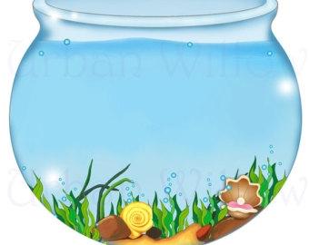 Fish bowl clipart 2