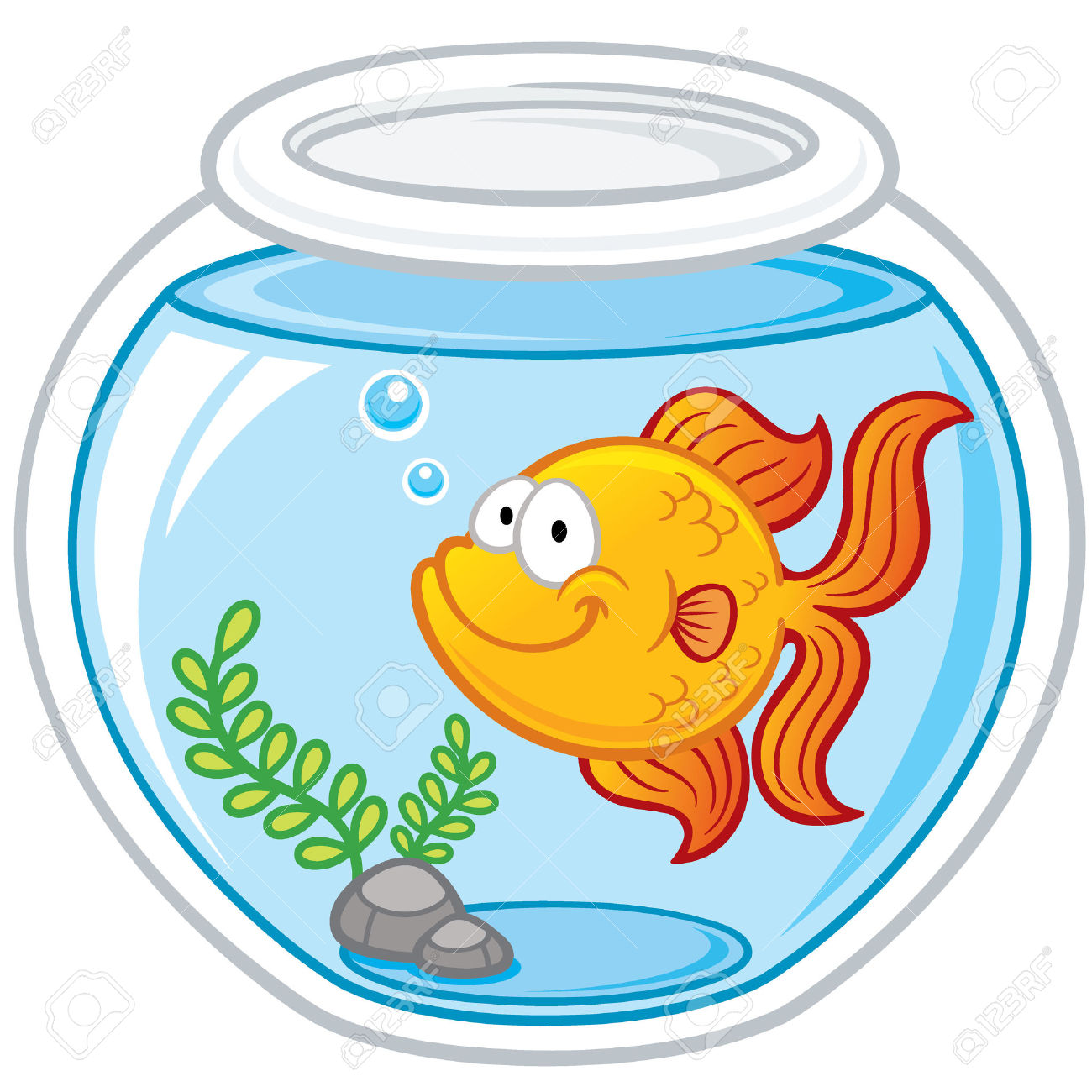 Fish Bowl Clipart Goldfish #2