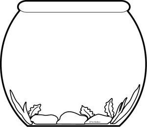 Fish Bowl clipart simple #3