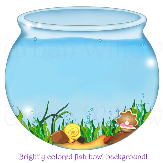 FISH BOWL Image, Digital Backgrounds, Mermaid Clipart, Digital Scrapbook  Images, Clipart Seaweed, Clipart Seashells, Clipart Water From  LittlePumpkinsPix On Hdclipartall.com