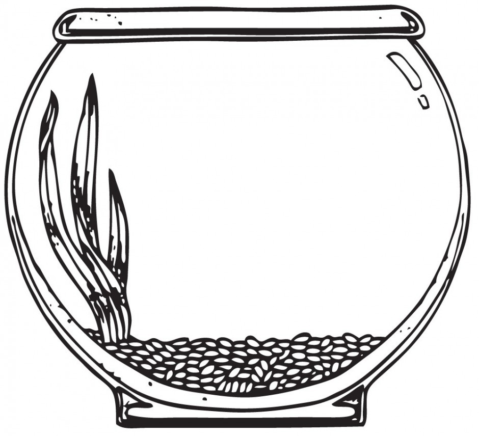 Fish bowl outline clipart hdclipartall no