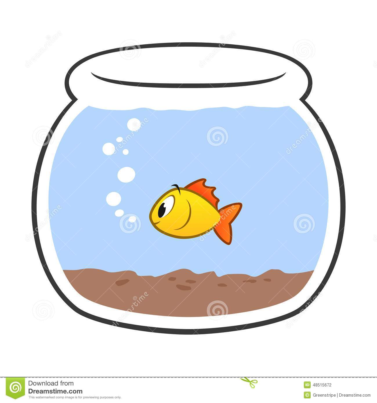 Fishbowl Clipart Goldfish Fis - Fish Bowl Clipart