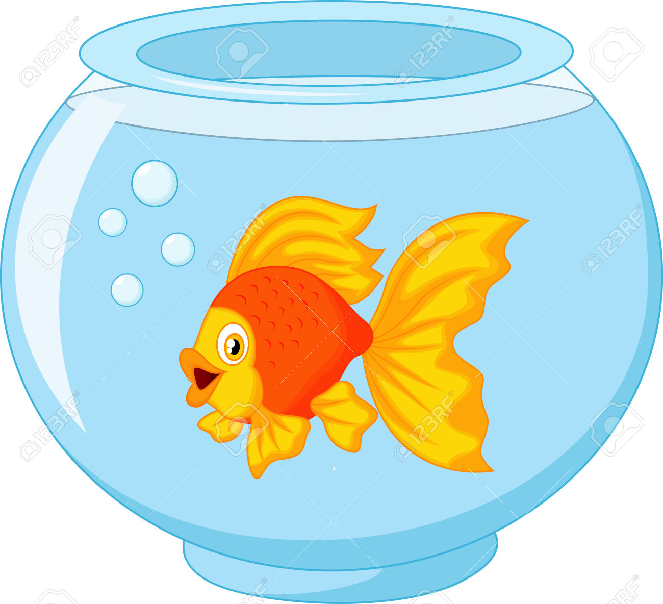 Gold fish bowl clipart hdclipartall no
