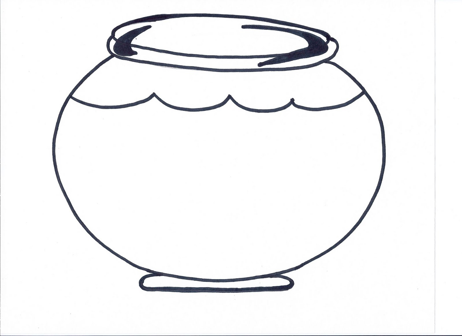 Printable Fish Bowl Template - Clipart library
