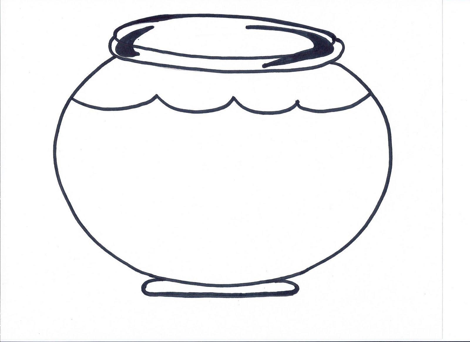 Printable Fish Bowl Template  - Fish Bowl Clipart