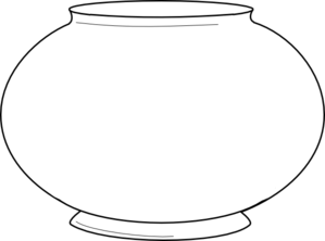Simple Fishbowl Outline Clip Art