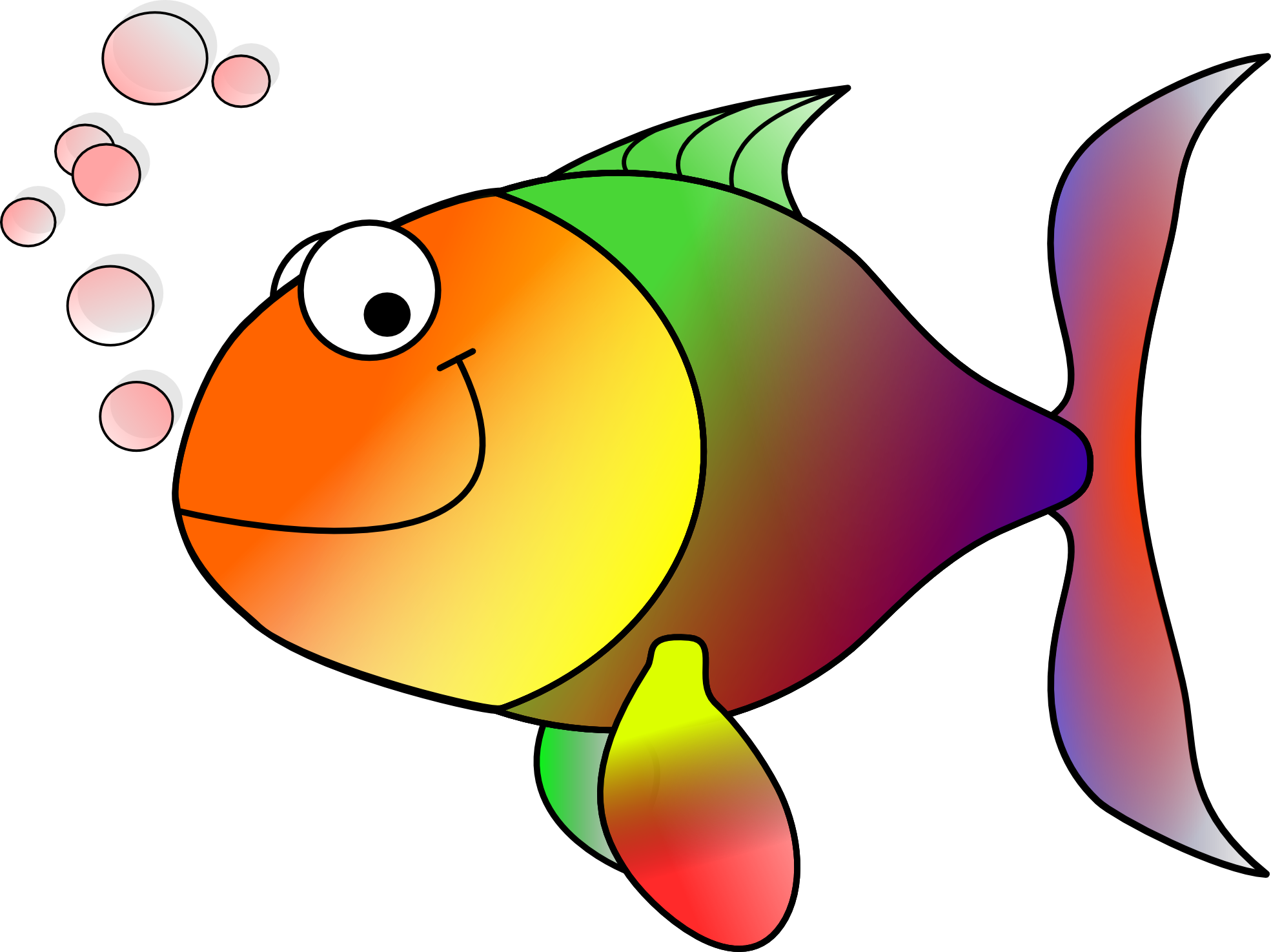 Fish clip art free clipart image