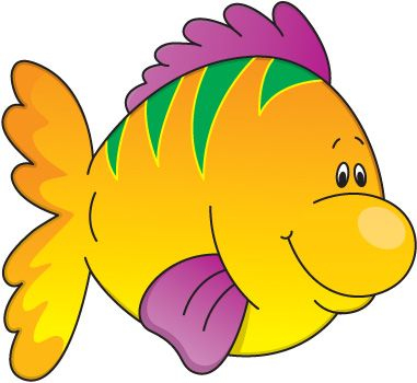 Fish in Water Clip Art | Fish Clip Art for Kids