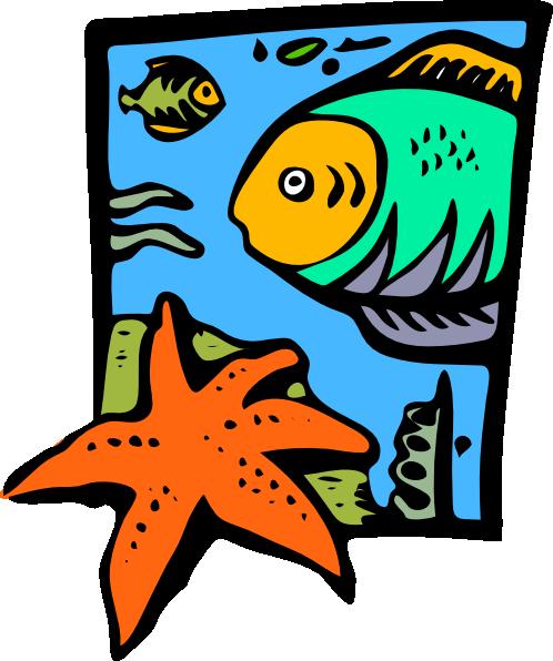 Fish Marine Life Starfish Clip Art At Clker Com Vector Clip Art